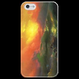 """Чехол для iPhone 5 глянцевый, с полной запечаткой """"Девятый вал (картина Айвазовского)"""" - картина, айвазовский"""
