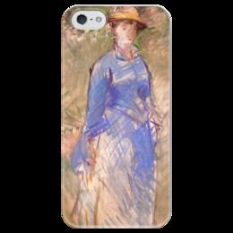 """Чехол для iPhone 5 глянцевый, с полной запечаткой """"Молодая девушка в саду"""" - картина, мане"""