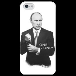 "Чехол для iPhone 5 глянцевый, с полной запечаткой ""One and Only by Design Ministry"" - россия, russia, путин, putin, oneandonly"