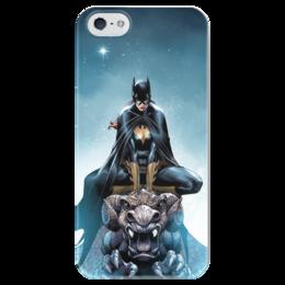 "Чехол для iPhone 5 глянцевый, с полной запечаткой ""Batgirl"" - комиксы, batgirl, бэтгёл"