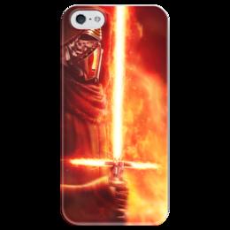 """Чехол для iPhone 5 глянцевый, с полной запечаткой """"Кайло Рен (Kylo Ren)"""" - star wars, звездные войны, соло, кайло рен, ben solo"""