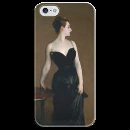 """Чехол для iPhone 5 глянцевый, с полной запечаткой """"Портрет мадам Икс"""" - картина, сарджент"""