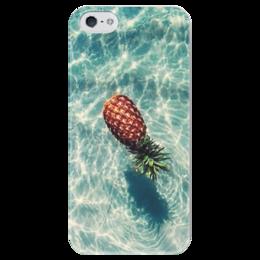 """Чехол для iPhone 5 глянцевый, с полной запечаткой """"Ананас"""" - ананас, swag, pineapple"""