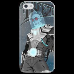 """Чехол для iPhone 5 глянцевый, с полной запечаткой """"Суперзлодеи: Mr Freeze"""" - комиксы, фантастика, супергерои, mr freeze, суперзлодеи"""