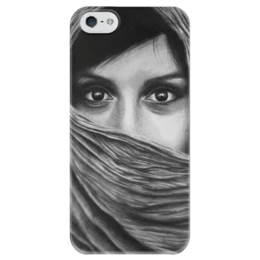 """Чехол для iPhone 5 глянцевый, с полной запечаткой """"Взгляд """" - красиво, глаза, рисунок, взгляд, графика"""