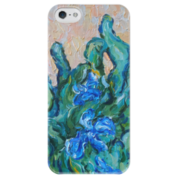 """Чехол для iPhone 5 глянцевый, с полной запечаткой """"Весеннее настроение"""" - красиво, life, жизнь, flower, весна, blue, spring"""