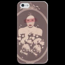 """Чехол для iPhone 5 глянцевый, с полной запечаткой """"Demi Lovato Case"""" - деми ловато"""