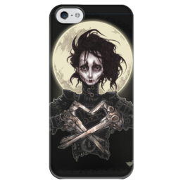 """Чехол для iPhone 5 глянцевый, с полной запечаткой """"Эдвард Руки-Ножницы"""" - комиксы, кино, эдвард руки ножницы, тим бартон"""