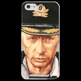 """Чехол для iPhone 5 глянцевый, с полной запечаткой """"Путин"""" - любовь, россия, путин, президент, моряк"""