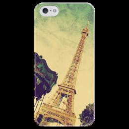 """Чехол для iPhone 5 глянцевый, с полной запечаткой """"Париж"""" - франция, париж, paris"""