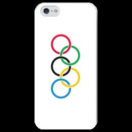"Чехол для iPhone 5 глянцевый, с полной запечаткой ""Олимпиада"" - спорт, олимпиада, рио"