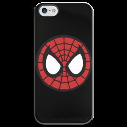 """Чехол для iPhone 5 глянцевый, с полной запечаткой """"Spider-man / Человек-паук"""" - человек-паук, spider-man, комиксы, фильм, мультфильм"""