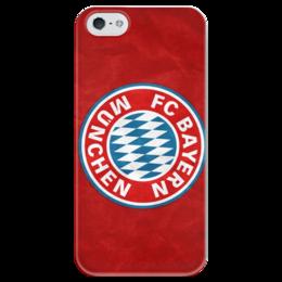 "Чехол для iPhone 5 глянцевый, с полной запечаткой ""Бавария"" - бавария мюнхен, bayern munich"