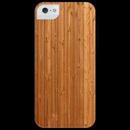 """Чехол для iPhone 5 глянцевый, с полной запечаткой """"Wood kit"""" - дерево, texture"""