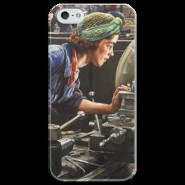 """Чехол для iPhone 5 глянцевый, с полной запечаткой """"Руби Лофтус. Ввинчивание казённика (Лаура Найт)"""" - картина, найт"""