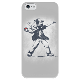 "Чехол для iPhone 5 глянцевый, с полной запечаткой ""Покемон"" - прикольные, покемон, покемоны, бэнкси, pokemon go"