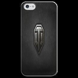 """Чехол для iPhone 5 глянцевый, с полной запечаткой """"танки"""" - танки игры разное прикольное"""