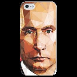 """Чехол для iPhone 5 глянцевый, с полной запечаткой """"Самый вежливый из людей."""" - арт, айфон, владимир, россия, путин"""