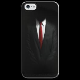 "Чехол для iPhone 5 глянцевый, с полной запечаткой ""Hitman"" - hitman, хитман"