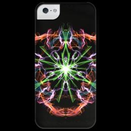 """Чехол для iPhone 5 глянцевый, с полной запечаткой """"Pulse of Universe """" - space, космос, вселенная, universe, пульс, pulse"""