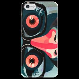 """Чехол для iPhone 5 глянцевый, с полной запечаткой """"Глаза"""" - глаза, комиксы, дизайн"""