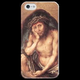 """Чехол для iPhone 5 глянцевый, с полной запечаткой """"Се, человек (Ecce Homo)"""" - картина, дюрер"""