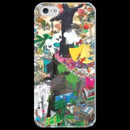 """Чехол для iPhone 5 глянцевый, с полной запечаткой """"Рио-де-Жанейро"""" - рио, rio, рио-де-жанейро, rio de janeiro"""