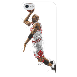 "Чехол для iPhone 5 глянцевый, с полной запечаткой ""Чикаго Буллз"" - баскетбол, basketball, нба, chicago bulls, чикаго буллз"