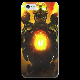 """Чехол для iPhone 5 глянцевый, с полной запечаткой """"Doom 4"""" - doom, шутер, дум, выживший, revenant demon"""