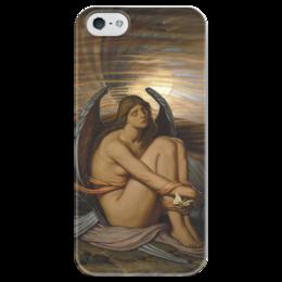 """Чехол для iPhone 5 глянцевый, с полной запечаткой """"Душа в рабстве (Soul in Bondage)"""" - картина, веддер"""