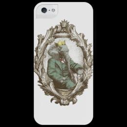 """Чехол для iPhone 5 глянцевый, с полной запечаткой """"Мой предок слон"""" - слон, портрет, elephant, iphone5"""