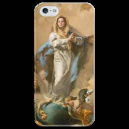"""Чехол для iPhone 5 глянцевый, с полной запечаткой """"Непорочное зачатие Девы Марии"""" - картина, тьеполо"""