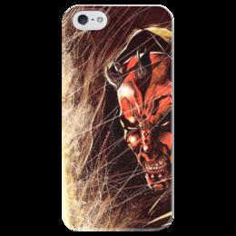 "Чехол для iPhone 5 глянцевый, с полной запечаткой ""Дарт Мол (Darth Maul)"" - star wars, звездные войны, darth maul, дарт мол, ситх"