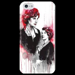 """Чехол для iPhone 5 глянцевый, с полной запечаткой """"Американская история ужасов"""" - сериал, american horror story, американская история ужасов, мойра"""