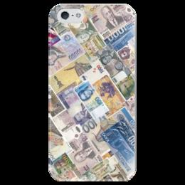 """Чехол для iPhone 5 глянцевый, с полной запечаткой """"Банкноты"""" - деньги, money, банкноты"""