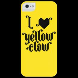 """Чехол для iPhone 5 глянцевый, с полной запечаткой """"I love Yellow Clow"""" - музыка, арт, music, party, оригинально, футболка мужская, подарок, вечеринка, amsterdam, логотип"""