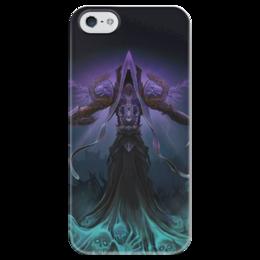 """Чехол для iPhone 5 глянцевый, с полной запечаткой """"WarCraft Collection"""" - wow, warcraft, world of warcraft, варкрафт, нежить"""