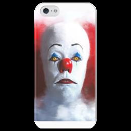 """Чехол для iPhone 5 глянцевый, с полной запечаткой """"It (Оно)"""" - king, it, клоун, оно, стивен кинг"""