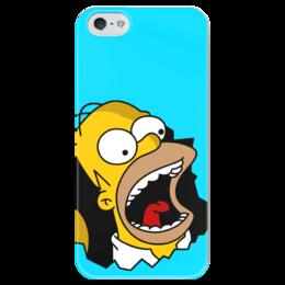 """Чехол для iPhone 5 глянцевый, с полной запечаткой """"Гомер Симпсон"""" - simpsons, homer, прикольные, гомер симпсон, симпспоны"""