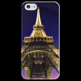 """Чехол для iPhone 5 глянцевый, с полной запечаткой """"La Paris"""" - любовь, стиль, париж, eiffel tower, romance"""