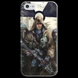 "Чехол для iPhone 5 глянцевый, с полной запечаткой ""S.T.A.L.K.E.R. Чистое небо"" - игра, сталкер, фанат, геймер, stalker"
