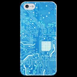 """Чехол для iPhone 5 глянцевый, с полной запечаткой """"Системная плата"""" - плата, система, системная плата"""