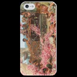 "Чехол для iPhone 5 глянцевый, с полной запечаткой ""Розы Гелиогабала (The Roses of Heliogabalus)"" - картина, альма-тадема"