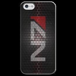 "Чехол для iPhone 5 глянцевый, с полной запечаткой ""N7 (Mass Effect)"" - mass effect, n7, масс эффект"