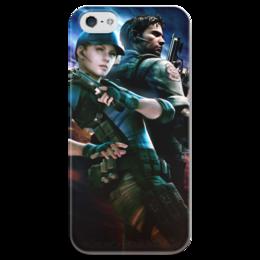 """Чехол для iPhone 5 глянцевый, с полной запечаткой """"Resident Evil"""" - игра, обитель зла, resident evil, umbrella, re"""