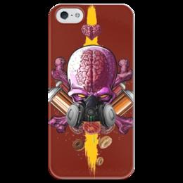 """Чехол для iPhone 5 глянцевый, с полной запечаткой """"Граффити Арт"""" - skull, череп, граффити, краска, graffiti"""