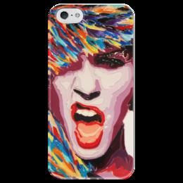 "Чехол для iPhone 5 глянцевый, с полной запечаткой ""Winter bang"" - креативно, color, bright, burst"