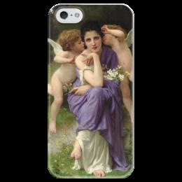 """Чехол для iPhone 5 глянцевый, с полной запечаткой """"Песни весны (Chansons de printemps)"""" - картина, бугро"""