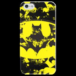 """Чехол для iPhone 5 глянцевый, с полной запечаткой """"Batman """" - арт, comics, бэтмен, dc, bathman, baths"""