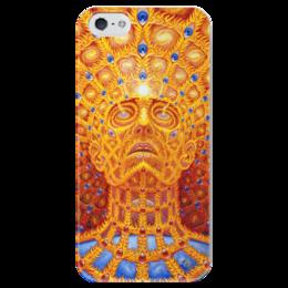 """Чехол для iPhone 5 глянцевый, с полной запечаткой """"Сверхдуша"""" - сверхдуша, oversoul"""